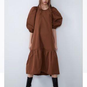 Zara voluminous taffeta dress